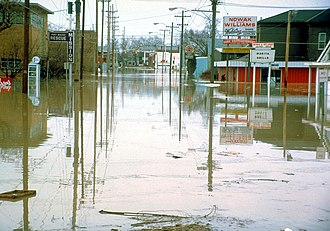 Fort Wayne, Indiana - A flooded Superior Street in 1982.