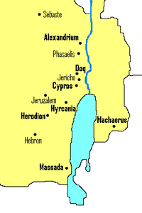 マサダの位置