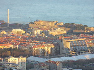 Savona - Panorama of Savona and Priamar fortress