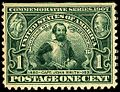 Founding of Jamestown stamp 1c 1907 issue.JPG