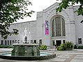 Fountain and entrance to Central Library and Art Gallery, Southampton Civic Centre - geograph.org.uk - 25185.jpg
