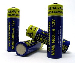 Four double-A (AA) rechargeable batteries
