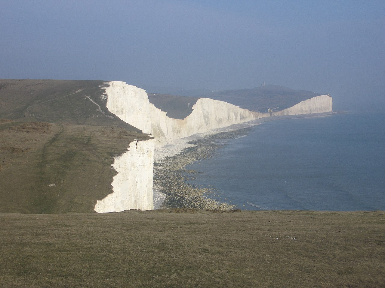 Four of the Seven Sisters cliffs