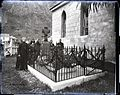 Fr. Damien's Grave and Priests, St. Philomena's Church, photograph by Brother Bertram.jpg