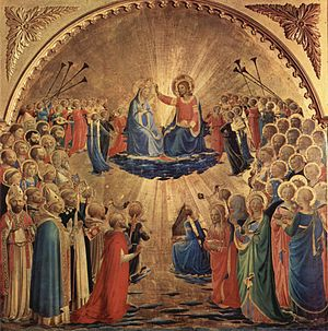Coronation of the Virgin (Fra Angelico, Uffizi) - Image: Fra Angelico 081