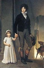 Jean-Baptiste Isabey et sa fille, enfant