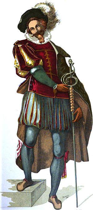 Costumes in commedia dell'arte - Il Capitano