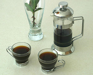 French press - A French press set and coffee