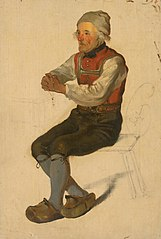 Study of a Seated Peasant