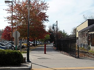 Dickson Street - Image: Frisco Trail, Dickson Street, Fayetteville, Arkansas