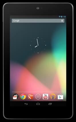 Vooraanzicht van de Nexus 7