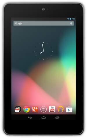 Comparison of Google Nexus tablets - Image: Front view of Nexus 7 (cropped)