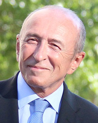 Minister of the Interior (France) - Image: Gérard Collomb à La Confluence (Lyon) (cropped)