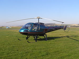 G-LADD an Enstrom 480 at Shoreham Airport, England
