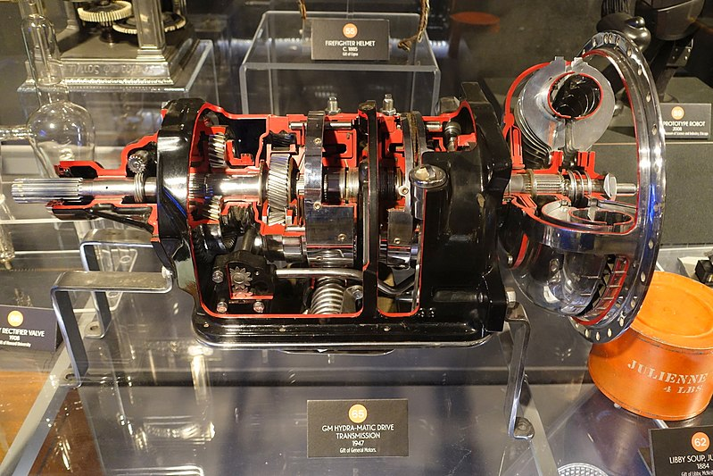 File Gm Hydra Matic Transmission 1947 General Motors Museum Of Science And Industry Chicago
