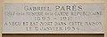 Gabriel Parès plaque, 86 rue de Varenne, Paris 7.jpg