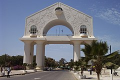 Arch 22 at the entrance to Banjul