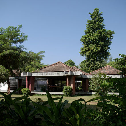 Sabarmati Ashram, Gandhi's home in Gujarat is now a museum (photographed in 2006). Gandhi home.jpg