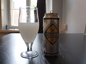 Alcopop - A can of Garage Hard Lemonade, a lemon-flavoured alcopop whose alcohol content matches that of common beer.