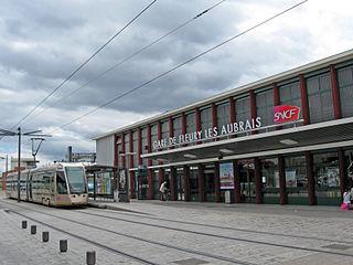 railway station in Fleury-les-Aubrais, France