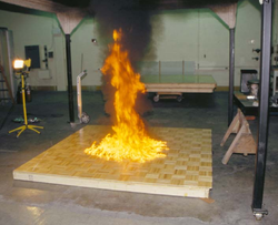 Uncontrolled burning of gasoline produces large quantities of soot.