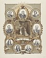 Gedenkplaat bij het 25-jarige regeringsjubileum van koning Willem III 1849-1874, RP-P-OB-89.242.jpg