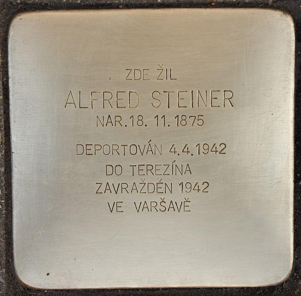 Gedenkstein für Alfred Steiner in Židlochovice Námestí Míru 27.jpg