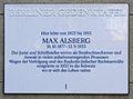 Gedenktafel Richard-Strauss-Str 22 (Grunew) Max Alsberg.JPG