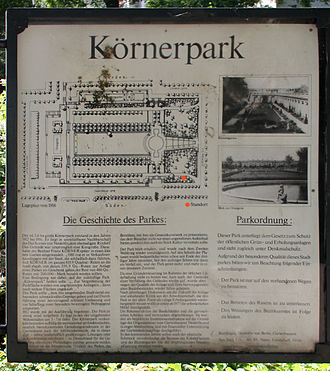 Körnerpark - Commemorative plaque at Wittmannsdorfer Straße 6