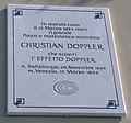 Gedenktafel an Dopplers Sterbehaus in San Marco in Venedig.jpeg