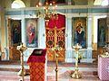 Geisiškių Šv. kankinio Jurgio Nugalėtojo cerkvė. Viduje.JPG