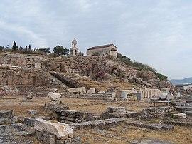 Widok na teren wykopalisk w kierunku Eleusis.