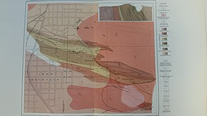 Iron Mountain, Michigan - Geologic map of the Iron Mountain area