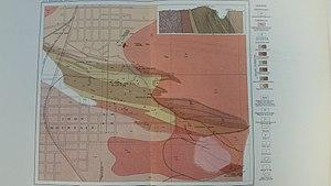 Iron Mountain, Michigan - Geologic map of the Iron Mountain area