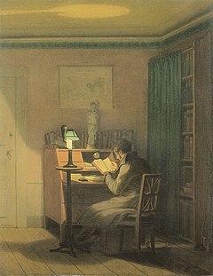 Georg Friedrich Kersting - Der elegante Leser