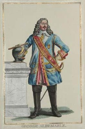 George Monck, 1st Duke of Albemarle - George Albemarle, General Anglois. d'Apres Barlow undated French engraving