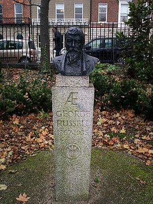 George William Russell - Bust of George William Russell in Merrion Square, Dublin