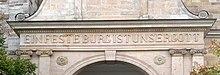 "St. George's Church in Eisenach, where Bach was baptised. Portal inscription: ""Ein feste Burg ist unser Gott""."