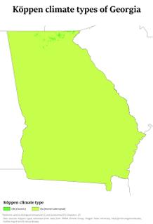 Climate of Georgia (U.S. state)