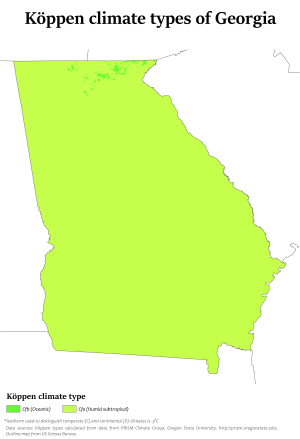 Climate of Georgia (U.S. state) - Wikipedia