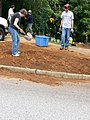 Georgia Native Plant Society planting butterfly garden in Heritage Park, Mableton, Cobb County, Sept 2015 22.jpg