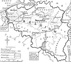 Map of the whole area under German occupation, c.1916 of which the General Government was part.