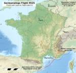 Germanwings Flight 9525 flight path topographic.png