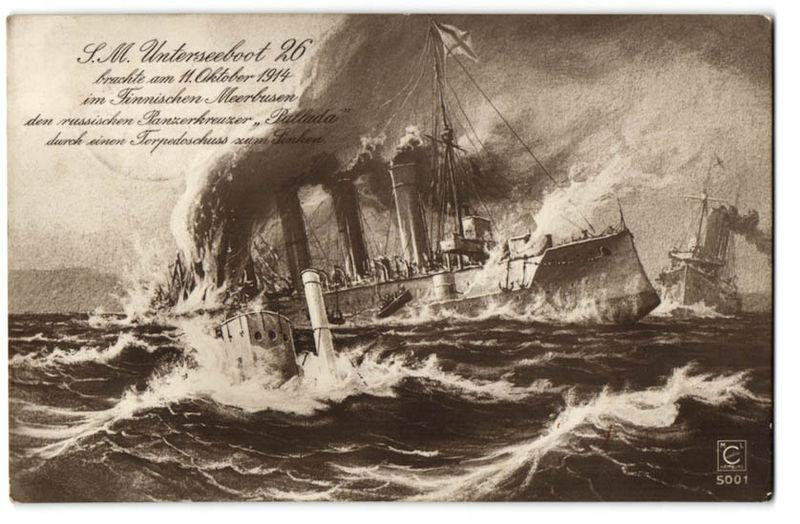 Немцы, отчаявшись достичь паритета с Британией в надводном флоте (хотя в конце 1914-начале 1915 годов некоторый шанс на победу в эскадренном бою, учитывая сложившееся соотношение сил, у них был!) решили сделать ставку на новое оружие – подводные лодки. И, надо сказать, они были близки к успеху.