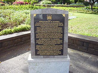 Portugal during World War II - Memorial commemorating Gibraltarian evacuees in Madeira