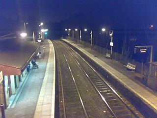 Giffnock railway station railway station in East Renfrewshire, Scotland, UK