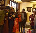 Gift giving with Wikimedians in Nepal.jpg