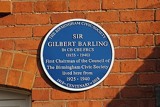 Gilbert Barling - Blue Plaque