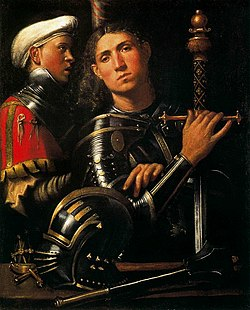 Giorgione, Portrait of Warrior with his Equerry.jpg