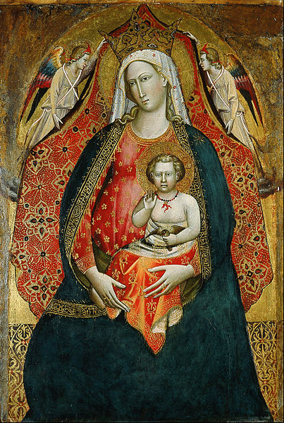 File:Giovanni di Marco, called Giovanni dal Ponte - Madonna and Child with Angels - Google Art Project.jpg